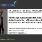 Georg Kirsbergi ettekanne Tallinna Konservatiivide klubis