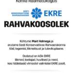 Rahvakoosolek Kohilas 12. aprill – kõneleb Mart Helme!