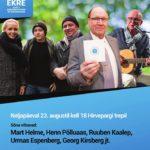 EKRE korraldab 23. augustil Eesti iseseisvuse toetuseks Hirvepargis miitingu